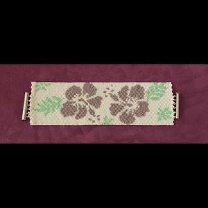 Jewelry - Peyote stitch hibiscus flower bracelet